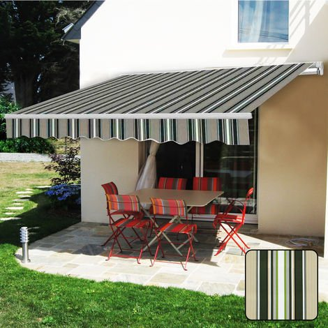 "main image of ""Greenbay 2.5 x 2m Manual Awning Garden Patio Canopy Sun Shade Shelter Retractable"""