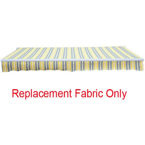 Greenbay 2.5x2m Garden Awning Replacement Fabric Top Cover Front Valance