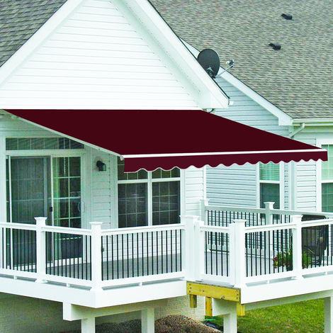 Greenbay 3.5 x 2.5m Manual Awning Garden Patio Canopy Sun Shade Shelter Retractable