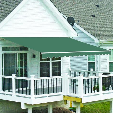 "main image of ""Greenbay 3.5 x 2.5m Manual Awning Garden Patio Canopy Sun Shade Shelter Retractable"""