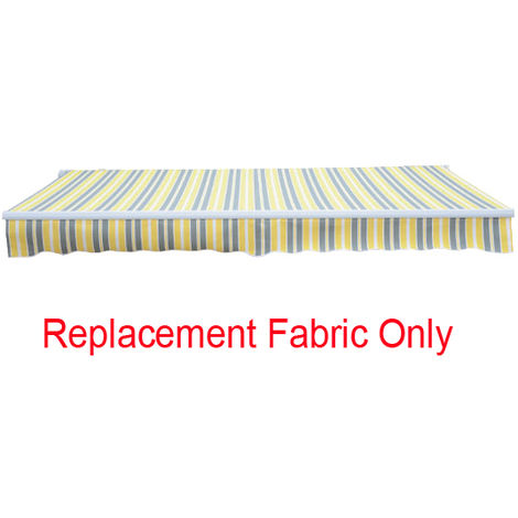 Greenbay 3.5x2.5m Garden Awning Replacement Fabric Top Cover Front Valance