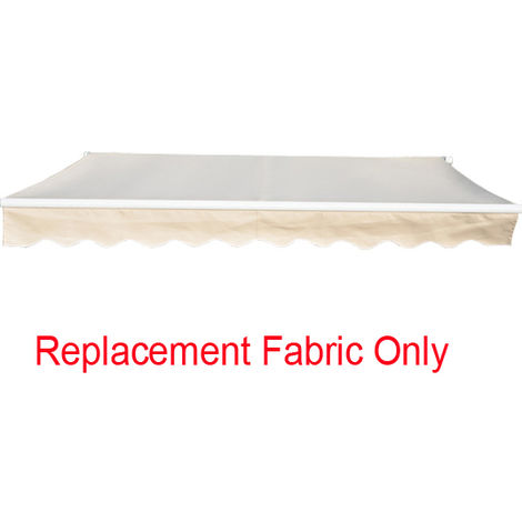 Greenbay 3x2.5m Garden Awning Replacement Fabric Top Cover Front Valance