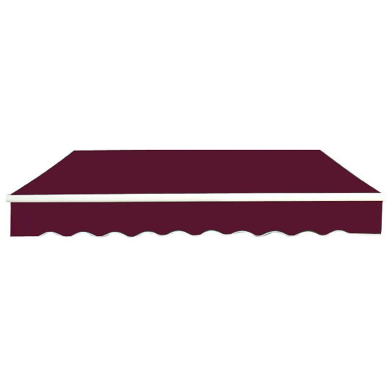 Image of Greenbay 4.5x3m Garden Awning Replacement Fabric Top Cover Front Valance Wine Red