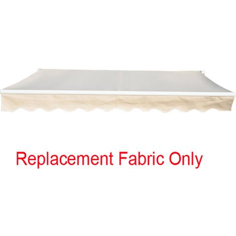 Greenbay 4x3m Garden Awning Replacement Fabric Top Cover Front Valance