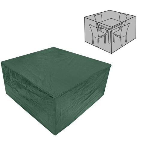 Greenbay Garden Furniture Cover for Patio Table Chairs Sofa Polyethylene Protective Dustproof Anti-UV Square Cover Green(255 x 255 x 80cm)