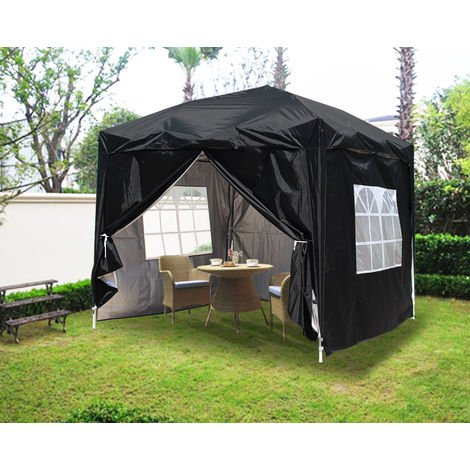 Greenbay Garden Pop Up Gazebo Party Tent Canopy With 4 Sidewalls and Carrying Bag 2x2M
