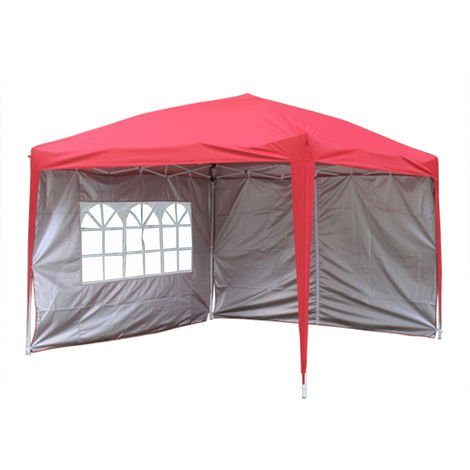 Greenbay Garden Pop Up Gazebo Party Tent Canopy With 4 Sidewalls and Carrying Bag 3x3M