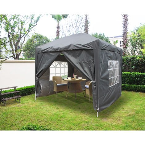 """main image of """"Greenbay Garden Pop Up Gazebo Party Tent Canopy With 4 Sidewalls and Carrying Bag 2x2M"""""""