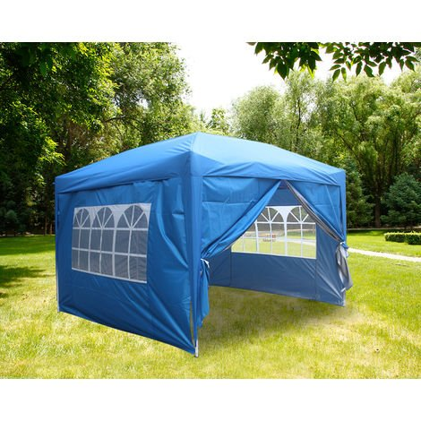 """main image of """"Greenbay Garden Pop Up Gazebo Party Tent Canopy With 4 Sidewalls and Carrying Bag 3x3M"""""""