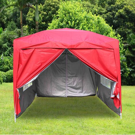 """main image of """"Greenbay Garden Pop Up Gazebo Party Tent Canopy With 4 Sidewalls and Carrying Bag 2.5x2.5M"""""""