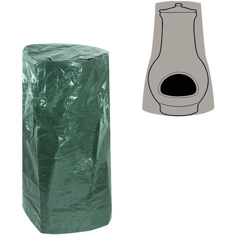 Greenbay Patio Funiture Cover Outdoor Chimenea Covers Polyethylene Garden Heater Rain Sun UV Protector (Height:102cm)
