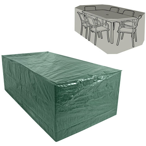 Greenbay Rectangular Garden Furniture Cover Dustproof Anti-UV Patio Dining Set Cover for Outdoor Table and Chair (270 x 180 x 89cm)