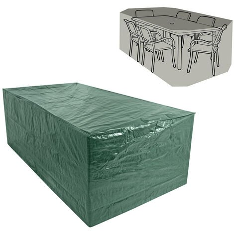 Greenbay Rectangular Garden Furniture Cover Dustproof Anti-UV Patio Dining Set Cover for Outdoor Table and Chair (315 x 160 x 74cm)