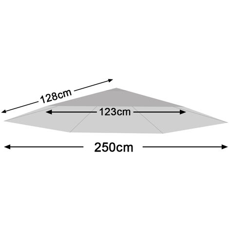 Greenbay Replacement Fabric Garden Parasol Canopy Cover for 2.5m 6 Arm Parasol - Grey