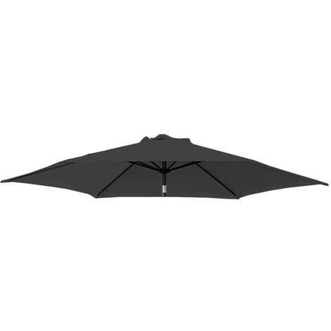 Greenbay Replacement Fabric Garden Parasol Canopy Cover for 2.7m 8 Arm Parasol - Black