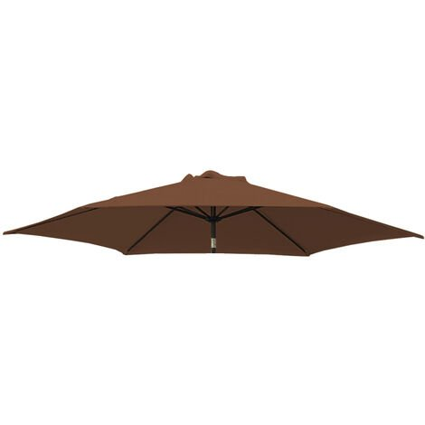 Greenbay Replacement Fabric Garden Parasol Canopy Cover for 2.7m 8 Arm Parasol - Coffee