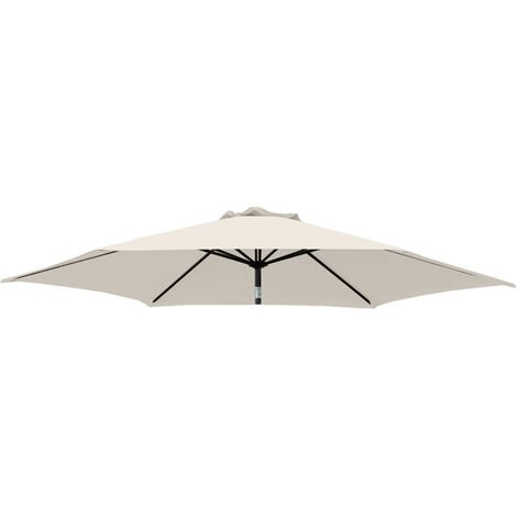 Greenbay Replacement Fabric Garden Parasol Canopy Cover for 2.7m 8 Arm Parasol - Cream