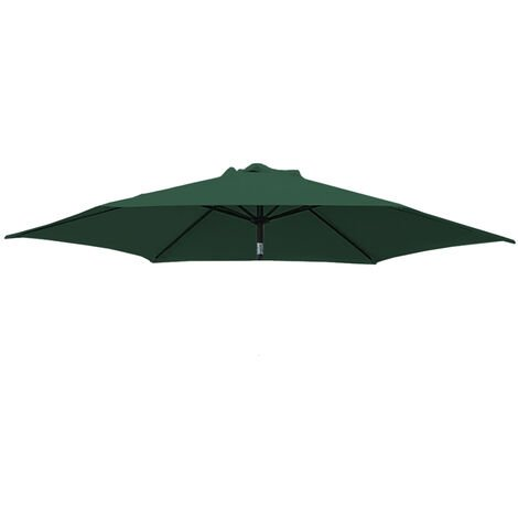 Greenbay Replacement Fabric Garden Parasol Canopy Cover for 2.7m 8 Arm Parasol - Green