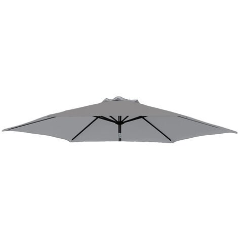 Greenbay Replacement Fabric Garden Parasol Canopy Cover for 2.7m 8 Arm Parasol - Grey