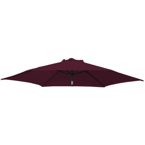 Greenbay Replacement Fabric Garden Parasol Canopy Cover for 2.7m 8 Arm Parasol - Wine