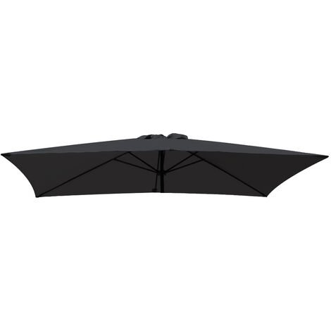 Greenbay Replacement Fabric Garden Parasol Canopy Cover for 3X2m 6 Arm Parasol - Black