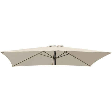 Greenbay Replacement Fabric Garden Parasol Canopy Cover for 3X2m 6 Arm Parasol - Cream