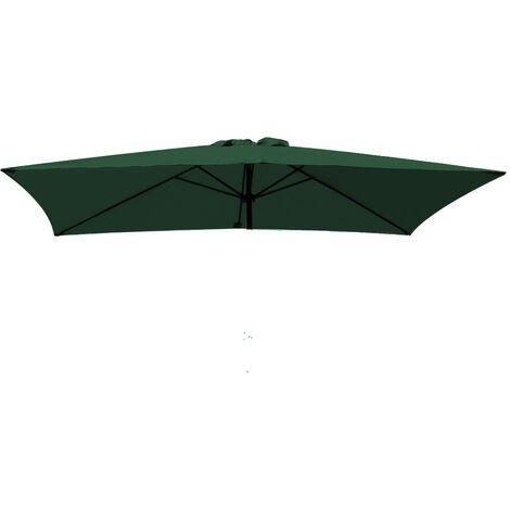 Greenbay Replacement Fabric Garden Parasol Canopy Cover for 3X2m 6 Arm Parasol - Green