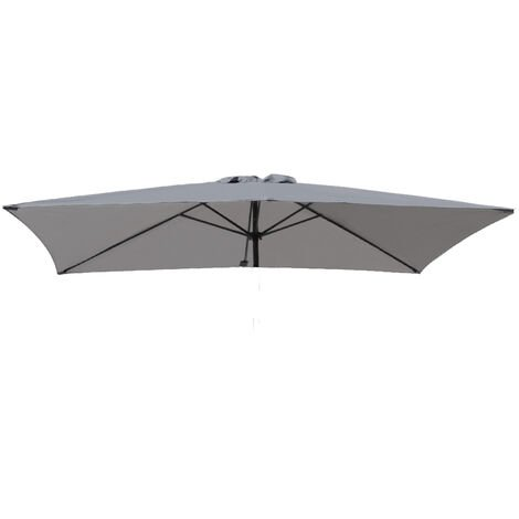 Greenbay Replacement Fabric Garden Parasol Canopy Cover for 3X2m 6 Arm Parasol - Grey