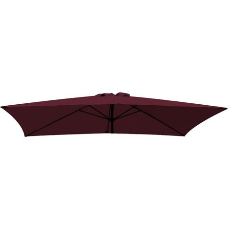 Greenbay Replacement Fabric Garden Parasol Canopy Cover for 3X2m 6 Arm Parasol - Wine
