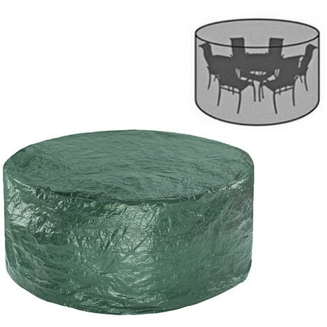 Greenbay Round Garden Furniture Cover Dustproof Anti-UV Polyethylene Cover for Patio Outdoor Table and Chair Dining Set (Diameter:186cm Height:100cm)