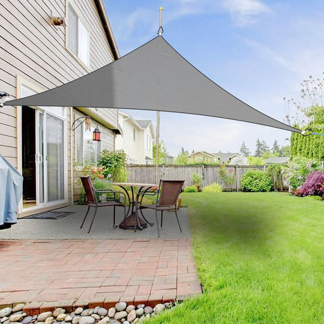 Greenbay Sun Shade Sail Garden Patio Party Sunscreen Awning Canopy 98% UV Block Triangle