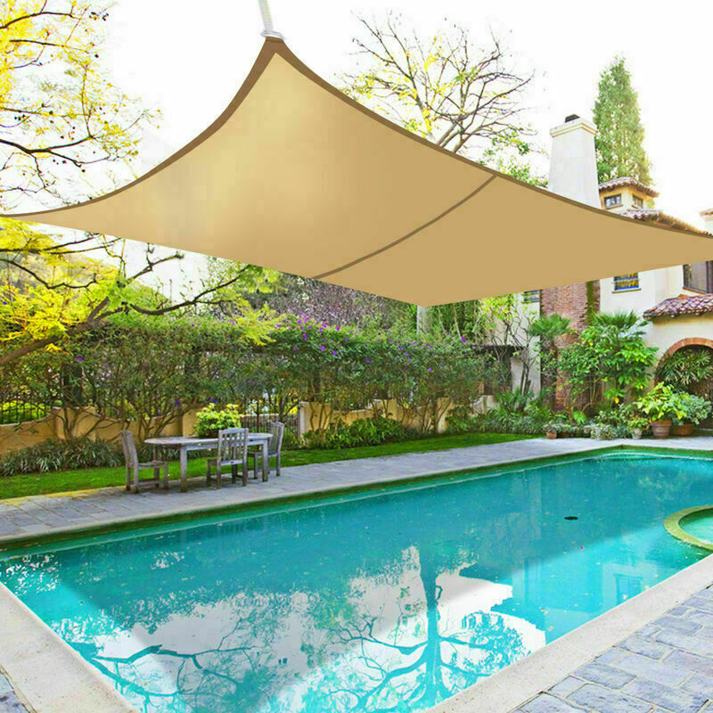 3.6m Sun Shade Sail Garden Patio Awning Canopy 98/% UV Block Triangle Anthracite