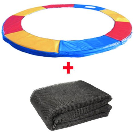 """main image of """"Greenbay Trampoline Replacement Spring Cover Padding Pad & Safety Net Enclosure Surround Bundle Tri-Colour"""""""