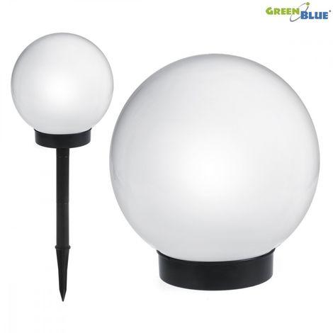 GREENBLUE GB121 LAMPE SOLAIRE JARDIN POSE LIBRE - GLOBE 15X15X48CM LED BLANCHE (GB121)