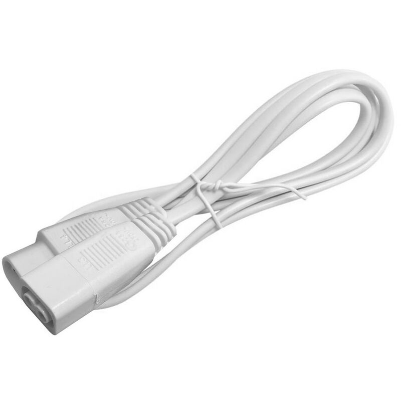 Image of (1 Pack) Greenbrook 50cm Link-Lead For Linkable Fluorescent Fittings White Under Cabinet Link Lead