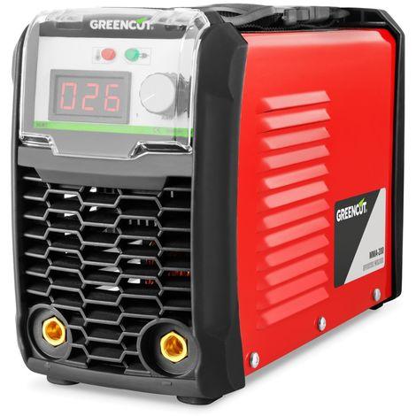 Greencut MMA-200 - Saldatrice DC Inverter, turboventilata, 200 A, colore: arancione