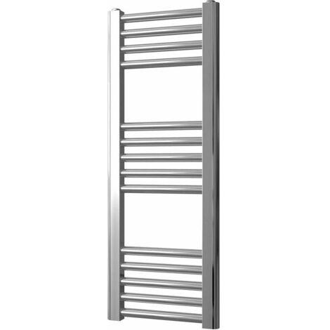 "main image of ""Greened House Chrome Flat Central Heating Towel Rail Designer Straight Towel radiator"""