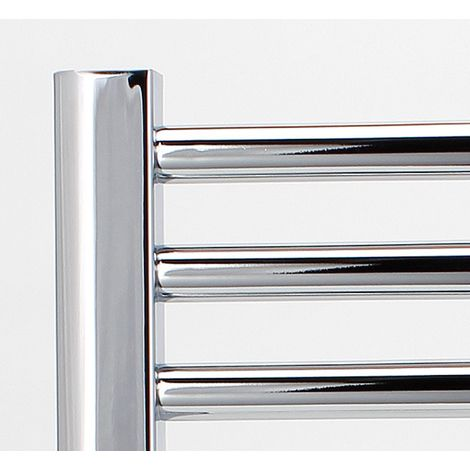 "main image of ""Greened House Chrome Flat Electric Heated Towel Rail high Designer Straight Towel radiator"""