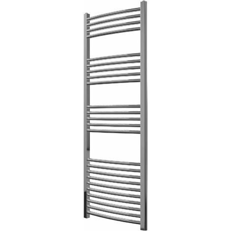 Greened House Chrome Curved Central Heating Towel Rail Designer Straight Towel radiator
