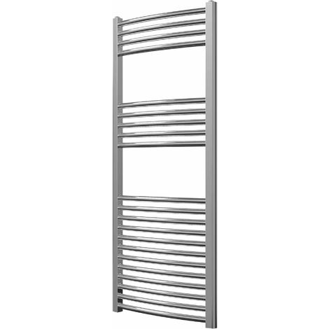 Greened House Chrome Curved Electric Heated Towel Rail high Designer Towel radiator