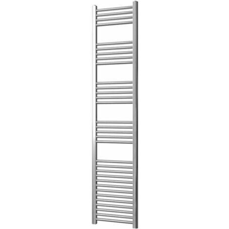 Greened House Chrome Flat Central Heating Towel Rail Designer Straight Towel radiator