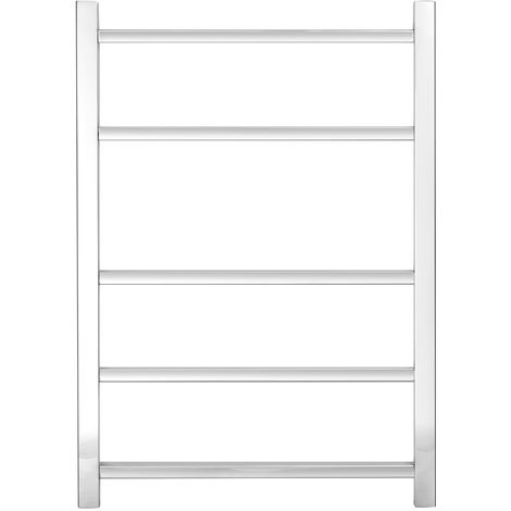 Greened House Cumbria Square Tube Stainless Steel Heated Towel Rail Mirror Polished finish Towel Warmer