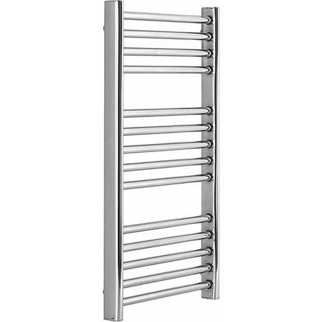 Greenedhouse 300 x 720mm Electric Stainless Steel Towel Rail Mirror Polished Finish energy efficient