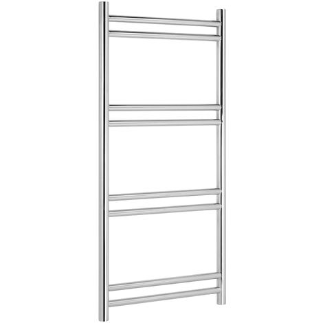 Greenedhouse Tirana Electric Stainless Steel Towel Rail Towel Warmer Mirror Polished Finish