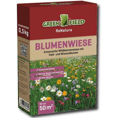 Greenfield Blumenwiese prairie fleurie 500 g fleurs, prairie, graines, graminées, herbes, semences, gazon