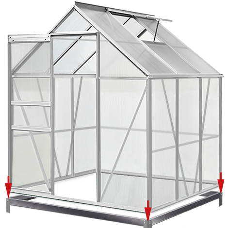 Greenhouse 5.85 m³ Window Galvanized Steel Foundation 190 x 195 cm