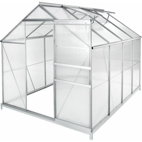 "main image of ""Greenhouse aluminium polycarbonate with foundation - polycarbonate greenhouse, walk in greenhouse, greenhouse base"""