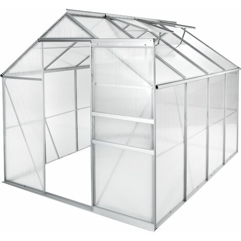 Greenhouse aluminium polycarbonate without foundation - polycarbonate greenhouse, walk in greenhouse, garden greenhouse