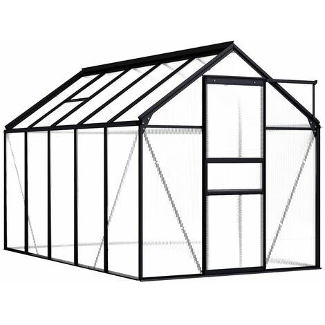 Greenhouse Anthracite Aluminium 5.89 m²