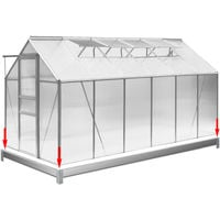 Greenhouse Foundation Galvanized Steel For Garden Growhouses 380 x 190 cm